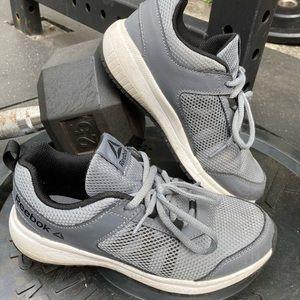 Grey little boys size 2 Reebok shoes